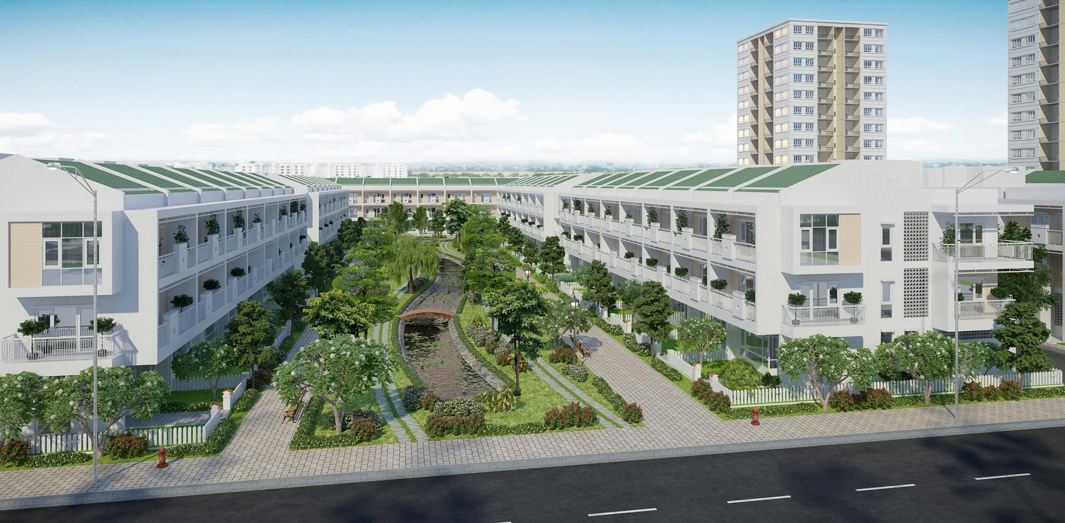 Khu nhà liên kế Phú Thịnh 2