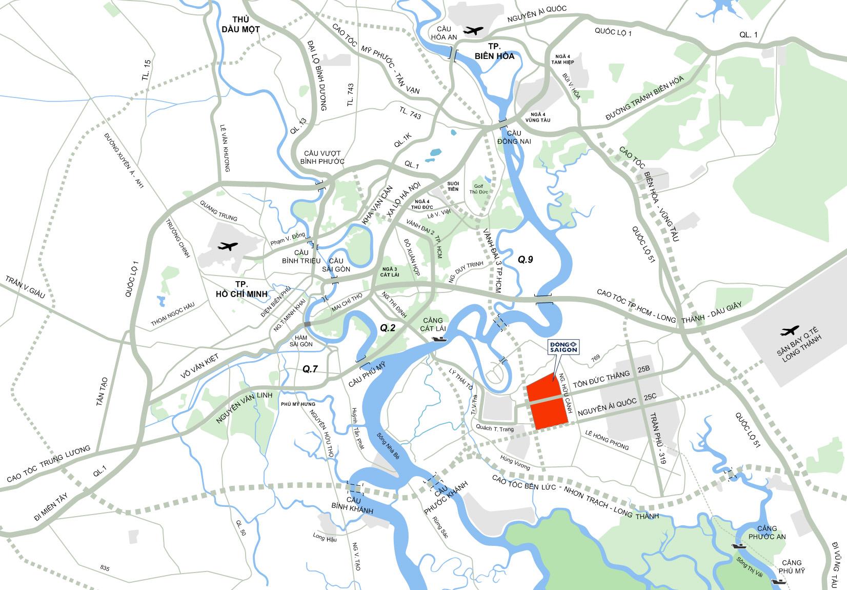 Bản đồ giao thông vùng